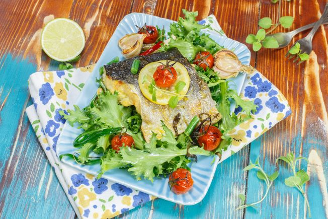 Baked Hake with Herb Dressing